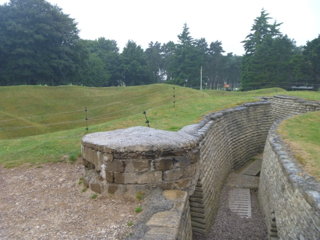 Part of the recreated trenches at Vimy Ridge