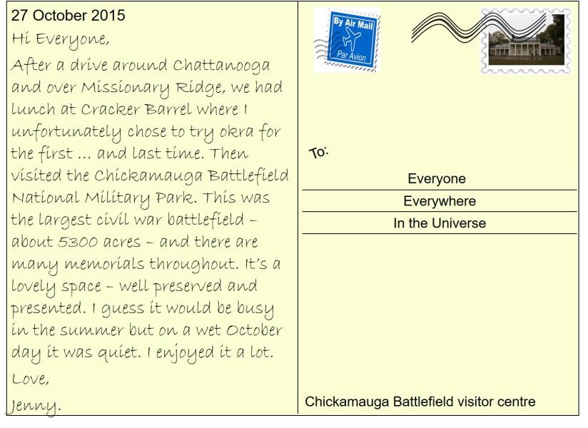 68 Chickamauga Battlefield visitor centre